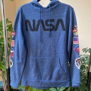 Blue NASA Pullover Sweatshirt Hoodie
